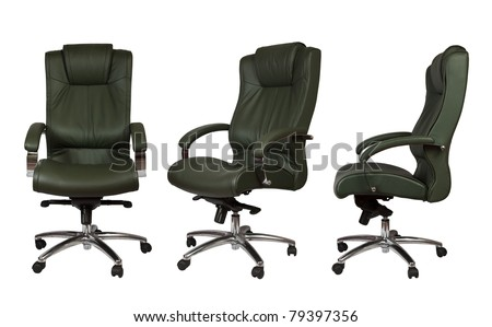 Set of luxury office armchair. Isolated on white background with clipping  path #79397356