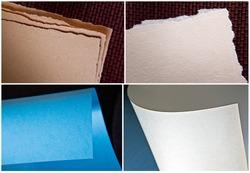 Set of Macro shots of corner of paper. Mockup. Close up
