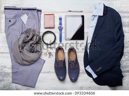 Set of mans fashion and accessories ストックフォト ©
