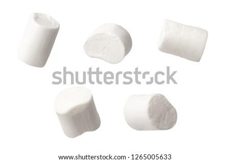 set of marshmallows isolated on white background #1265005633