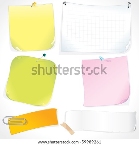 Set of Memo Sticks and Note Papers