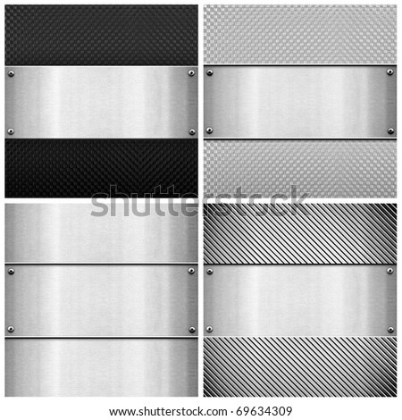 set of metal template - stock photo
