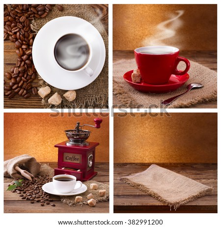 free photos set of modern posters with coffee backgrounds trendy