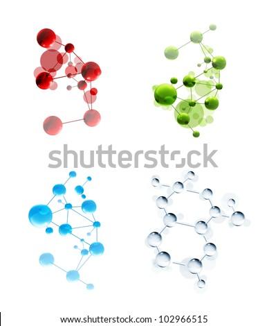 Set of molecules, bitmap copy