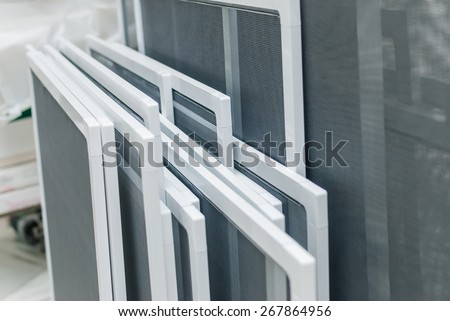Set of Mosquito Nets Frames, PVC Window Screens