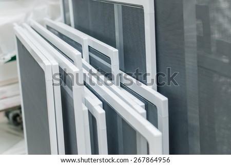 Set of Mosquito Nets Frames, PVC Window Screens