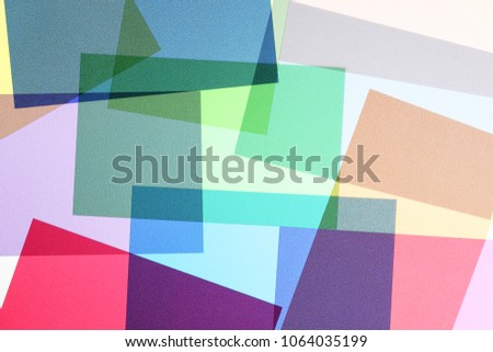 set of multicolored and overlapping transparencies, abstract colorful background #1064035199