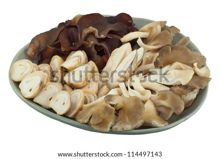 Set of mushroom. it's has 3 type of mushroom. it's use for suki or boiling soup
