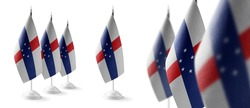 Set of Netherlands Antilles national flags on a white background