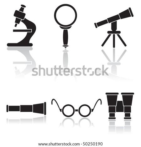 Set of optical icons, illustration
