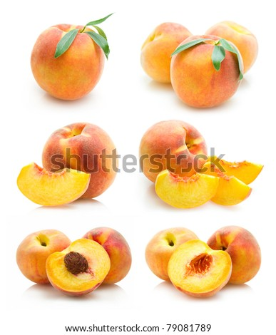 set of peach images
