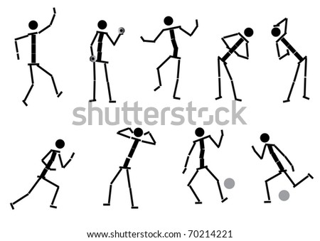 Set of peoples icons, for your design. The similar image in my portfolio in vector format. - stock photo