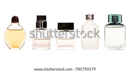 Set of Perfume bottle isolated on white background. #780790579