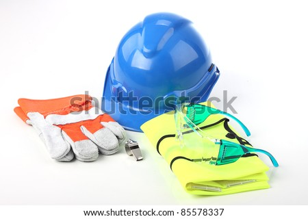 Set of personal protective equipment.