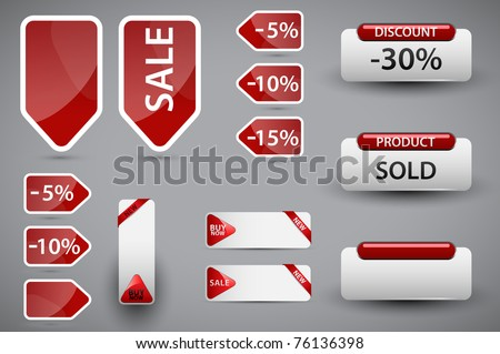 Set of price tags. Vector version available in my gallery.
