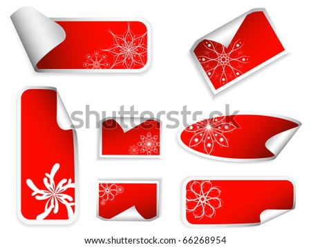 Set of price tags with snowflakes.Vector version available in my gallery.
