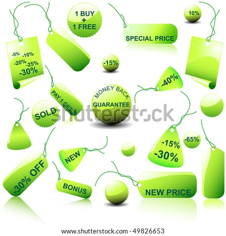 Set of  price tags - you can use it for any sale time or seasons.