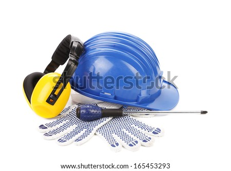 Set of protective objects. Isolated on a white background.