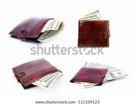 Set of purses with the big pack of dollars