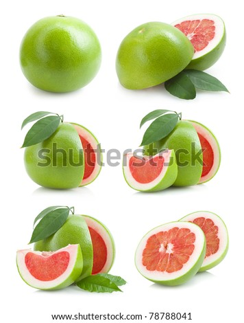 set of red pomelo images
