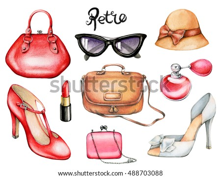 set of retro fashion...
