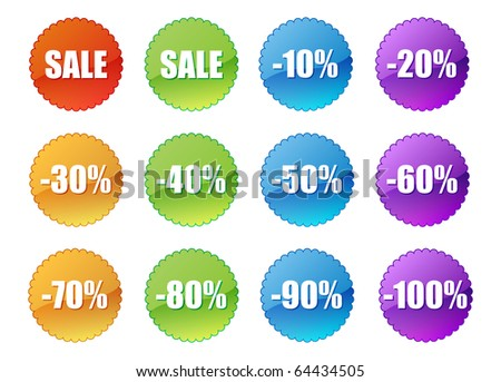 Set of sale stickers #64434505