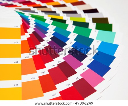 Set of samples of various colours