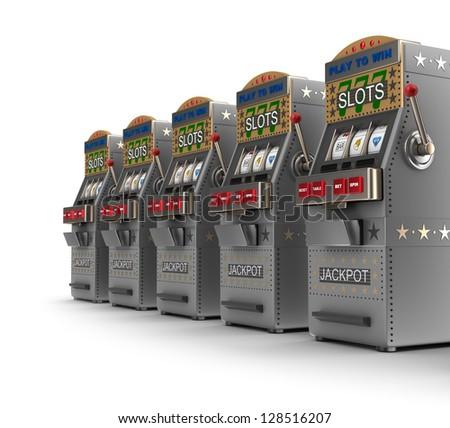 Set of slot machines