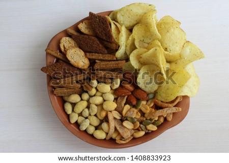 Set of snacks for beer #1408833923