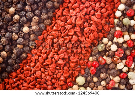 set of spices for background or texture - stock photo