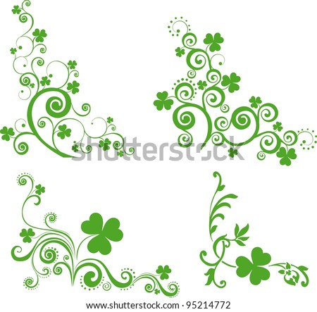 Set of St. Patrick's Day. Collection of design elements isolated on White background.  illustration