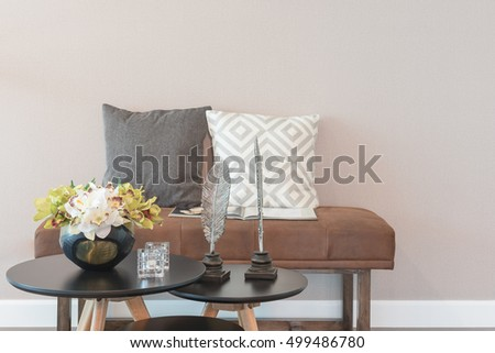 set of table and chair in modern living room interior design #499486780