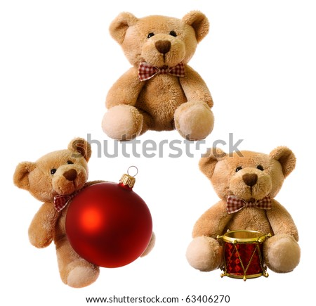 Set of teddy bear