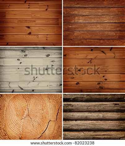 set of the wooden backgrounds