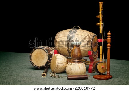 Set of Traditional Thai musical instruments #220018972
