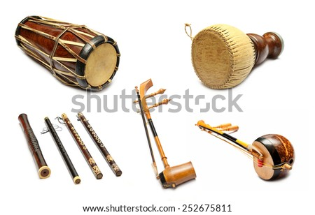 Set of Traditional Thai musical instruments #252675811
