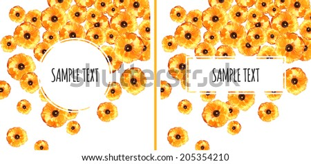 Set of Two Buttercup Backgrounds - Shutterstock ID 205354210