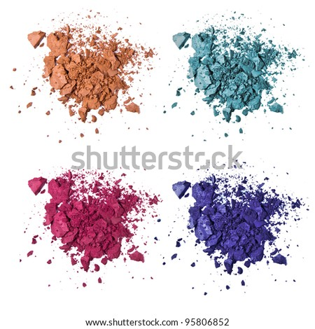 set of various crushed eyeshadow
