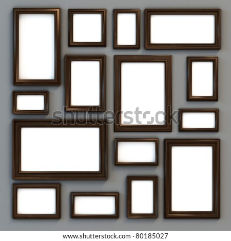 set of various frames for photographs or paintings