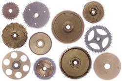 Set of various gears