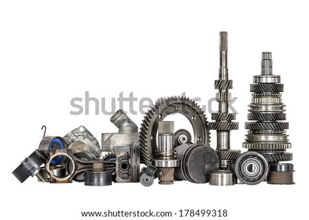 Set of various spare parts of engine and gear box #178499318
