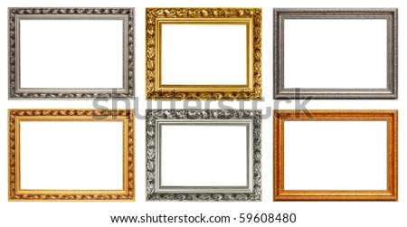 Set of vintage art frame. Horizontal