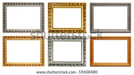 Set of vintage art frame. Horizontal
