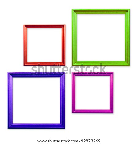 Set of Vintage frame isolated on white background