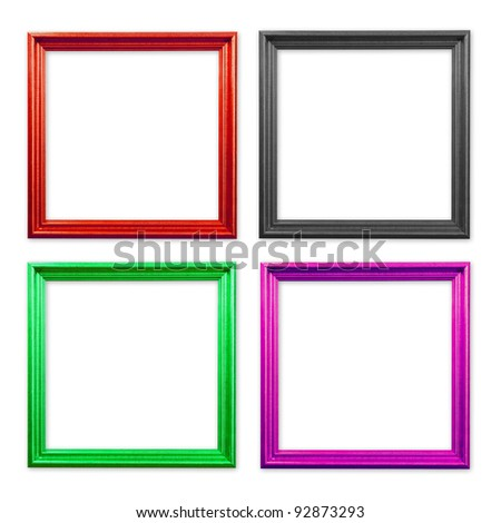 Set of Vintage frame isolated on white background - stock photo