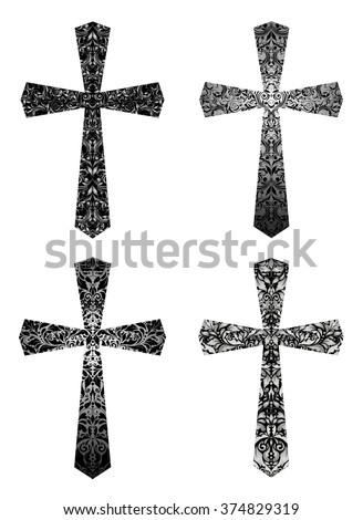 set of vintage gothic crosses...