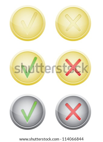 set of vote push buttons