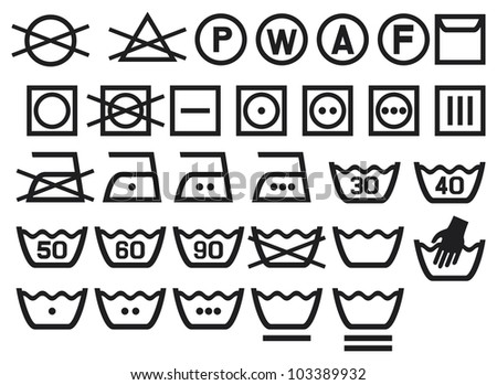 washing machine symbols 40 dry cleaning symbols wiring diagram odicis. Black Bedroom Furniture Sets. Home Design Ideas