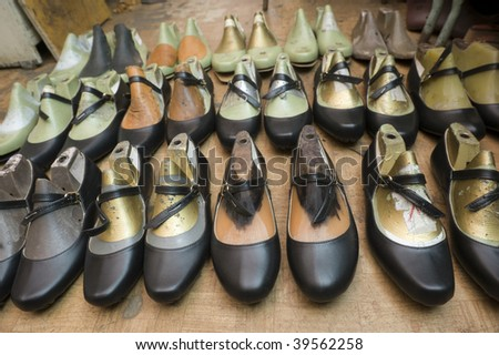 Set of woman shoes