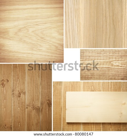 Set of wood textures, backgrounds